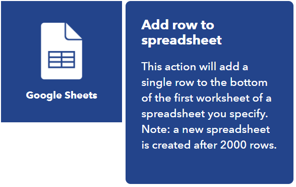 Google Sheets con IFTTT y Home Assistant